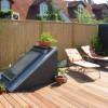 Juni 05 - Dachterrasse mit Bambus Sichtschutz
