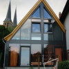 November - Glasfassade eines Holzanbaus in Gonsenheim Kosterstrasse 3