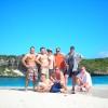Januar 07 - Aussichtplattform für Holzständerhaus auf Long Island Bahamas
