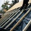 Juni 2007 - Vorbereitung von Isofloc Wärmedämmung im Dachbereich nach Vorgaben des KFW- Co2 Gebäudesanierungsprogramm