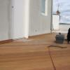 Februar 08 - Holzdeck aus Bankirai mit Wandanschluss-Sockel
