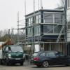 Dezember 2008 - Industriebau verkleidet mit blauen Trepaplatten