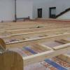 März 2009 - Flachdacherstellung in Holzbauweise mit Isofloc Wärmedämmung