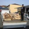 Mai 2015 - Beladung eines LKW mit einem Dachstuhl aus eigener handwerklicher Herstellung durch unseren Auszubildenden Felix Zerger.