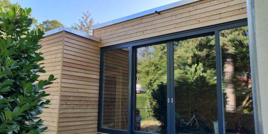 September 2018 Holzfassade aus Lärche