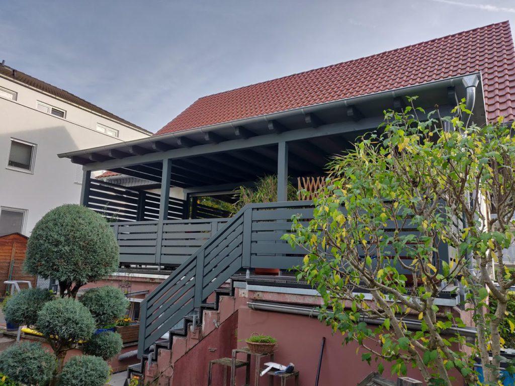 Oktober 2019 Terrassenüberdachung